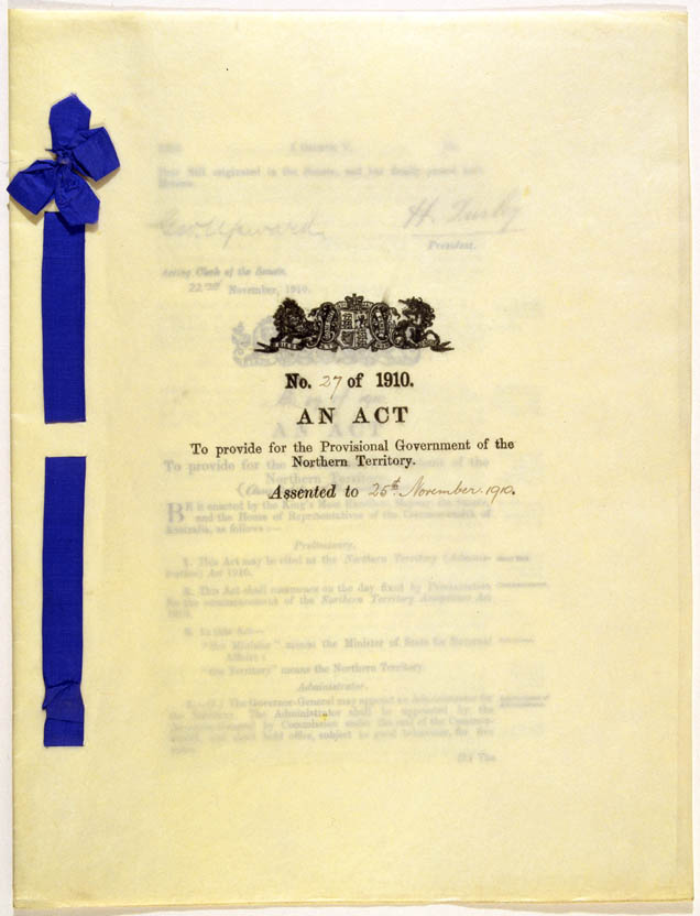 Northern Territory (Administration) Act 1910 (Cth), cover