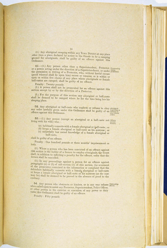 Aboriginals Ordinance No. 9 of 1918 (Cth), p15