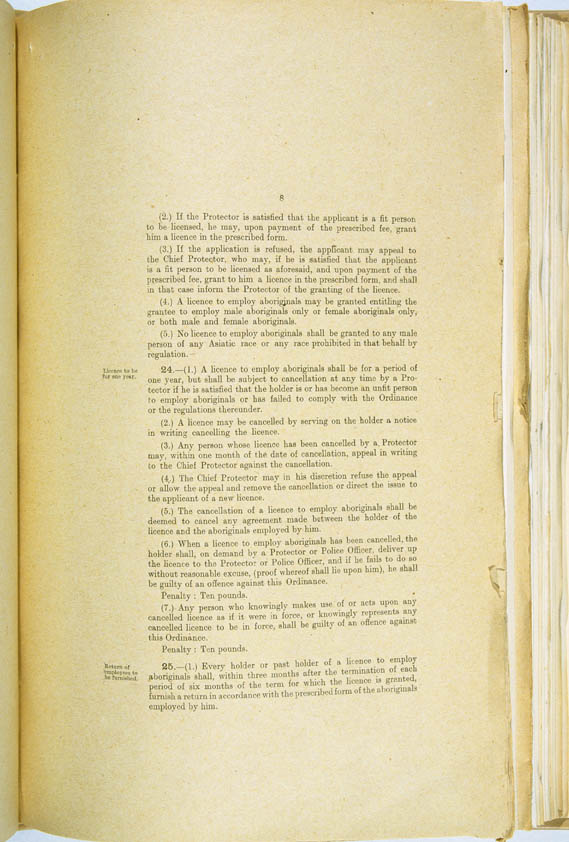 Aboriginals Ordinance No. 9 of 1918 (Cth), p8