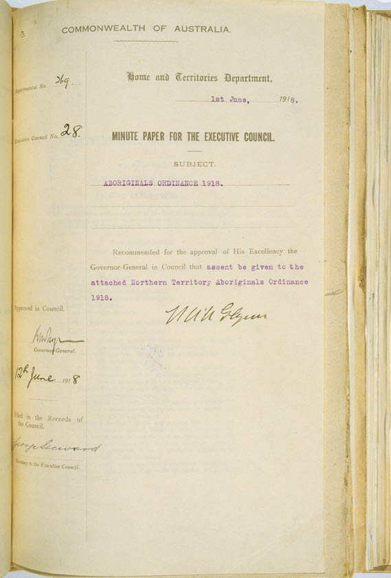 Aboriginals Ordinance No. 9 of 1918 (Cth), title
