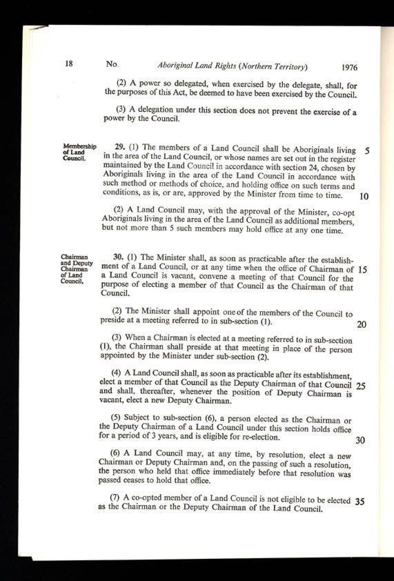 Aboriginal Land Rights (Northern Territory) Act 1976 (Cth), p18