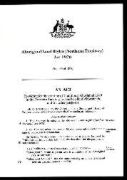 Aboriginal Land Rights (Northern Territory) Act 1976 (Cth), p1