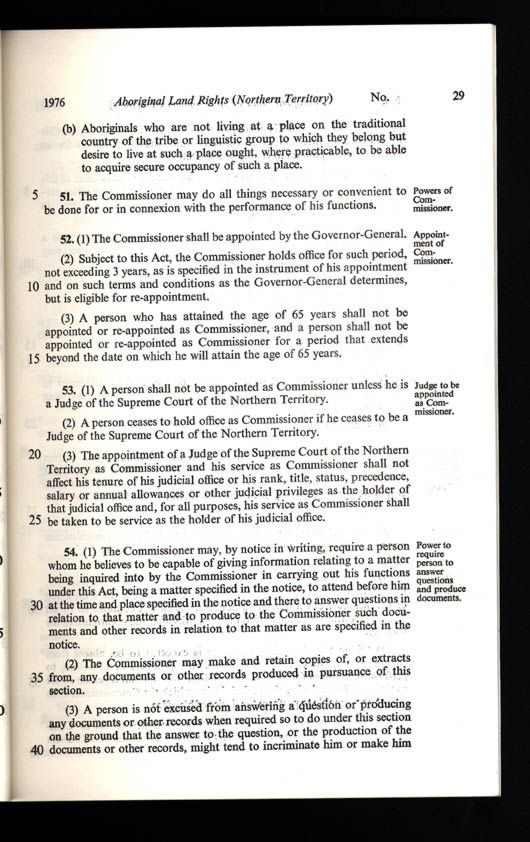Aboriginal Land Rights (Northern Territory) Act 1976 (Cth), p29