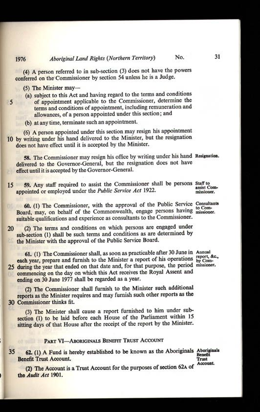 Aboriginal Land Rights (Northern Territory) Act 1976 (Cth), p31