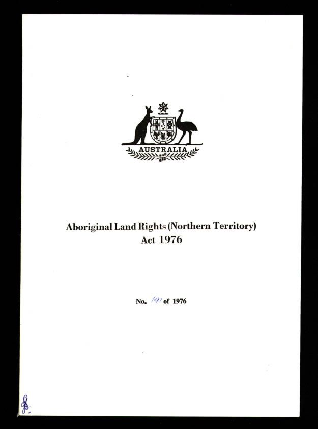 Aboriginal Land Rights (Northern Territory) Act 1976 (Cth), title