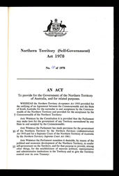 Northern Territory (Self-Government) Act 1978 (Cth), p1