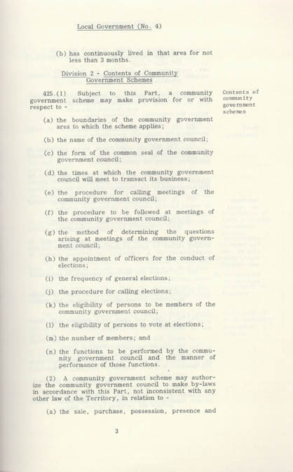 Local Government Act 1978 (NT), contents1
