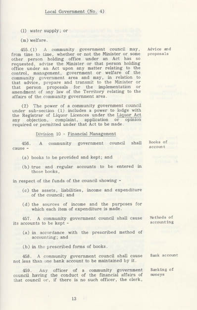 Local Government Act 1978 (NT), p13