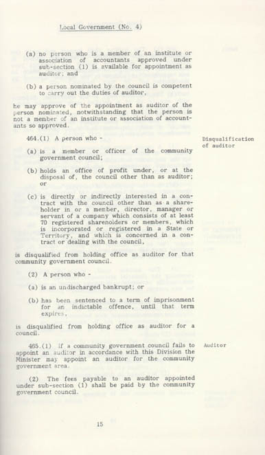 Local Government Act 1978 (NT), p15