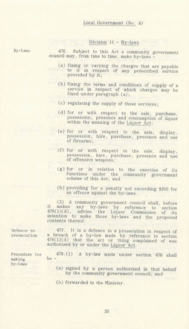 Local Government Act 1978 (NT), p20