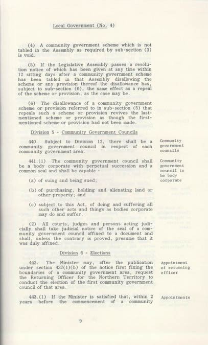 Local Government Act 1978 (NT), p9
