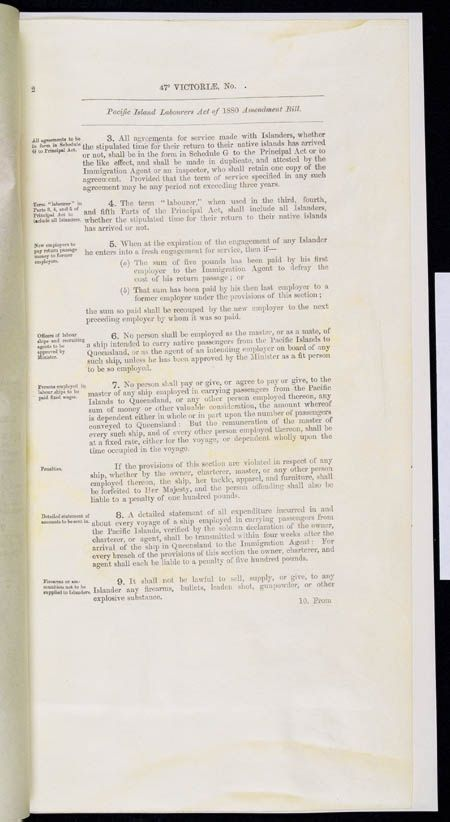 Pacific Island Labourers Act Amendment Act 1884 (Qld), p2