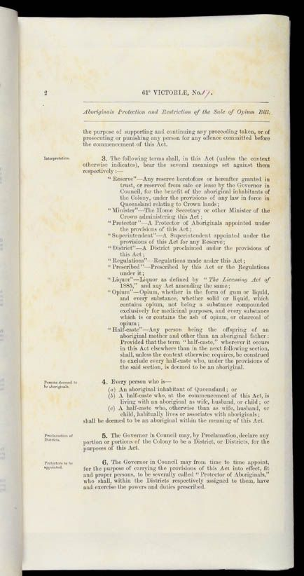Aboriginals Protection and Restriction of the Sale of Opium Act 1897 (Qld), p2