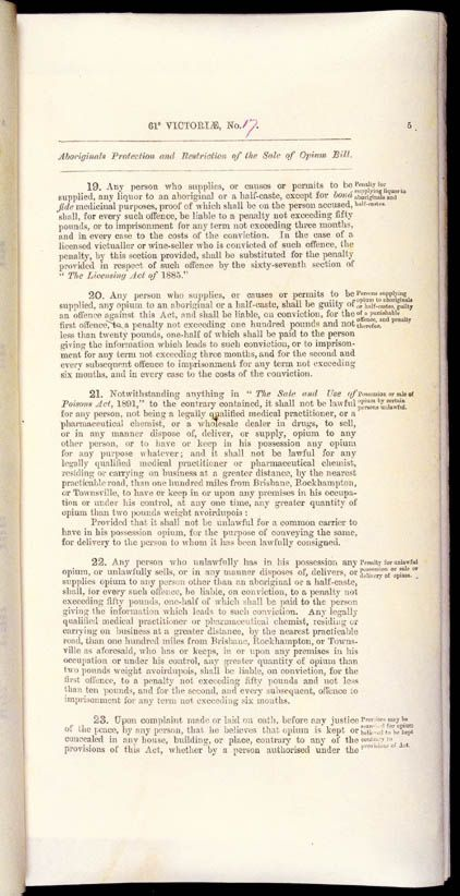 Aboriginals Protection and Restriction of the Sale of Opium Act 1897 (Qld), p5