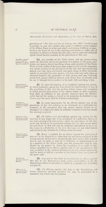 Aboriginals Protection and Restriction of the Sale of Opium Act 1897 (Qld), p6