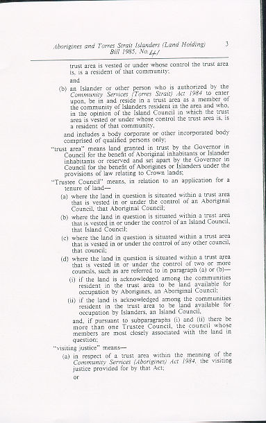 Torres Strait Islanders Act  Qld
