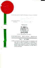 Aborigines and Torres Strait Islanders (Land Holding) Act 1985 (Qld), title