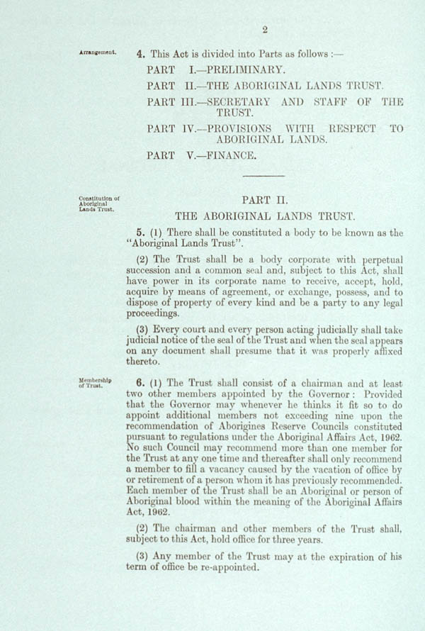 Aboriginal Lands Trust Act 1966 (SA), p2
