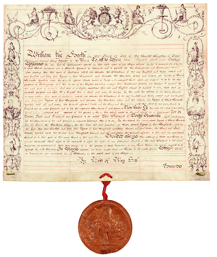 Letters Patent establishing the Province of South Australia 19 February 1836 (UK), p1