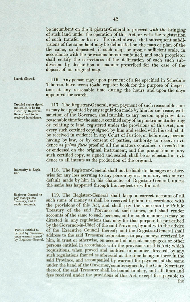 Real Property or 'Torrens Title' Act 1858 (SA), p42