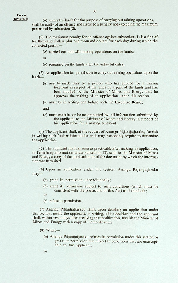 Pitjantjatjara Land Rights Act 1981 (SA), p10