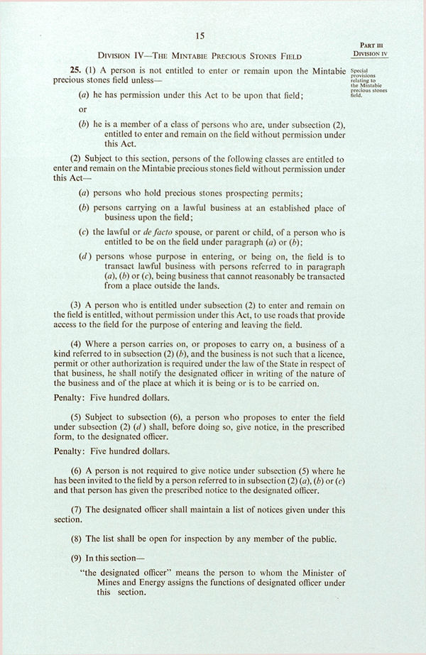 Pitjantjatjara Land Rights Act 1981 (SA), p15