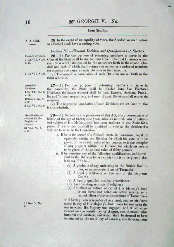 Constitution Act 1934 (Tas), p10