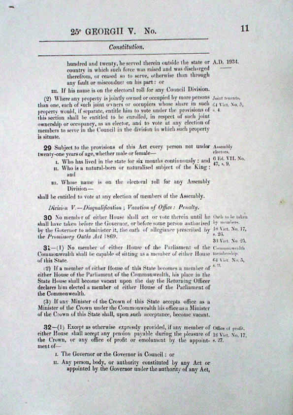 Constitution Act 1934 (Tas), p11