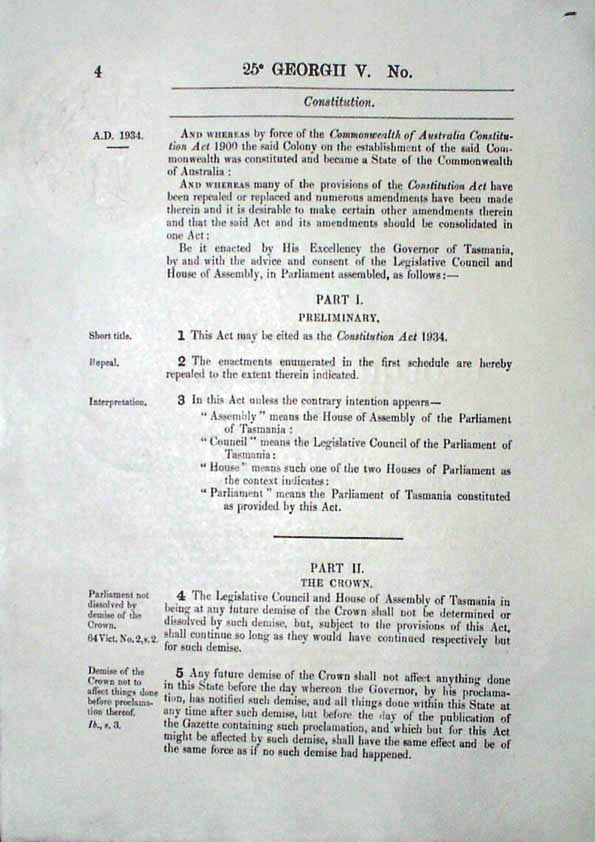 Constitution Act 1934 (Tas), p4
