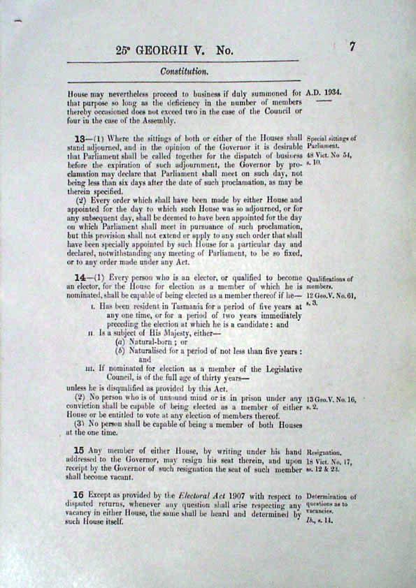 Constitution Act 1934 (Tas), p7
