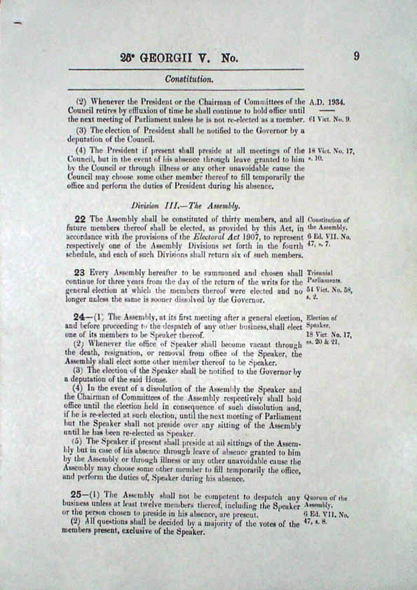 Constitution Act 1934 (Tas), p9