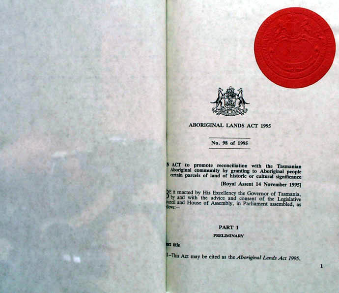 Aboriginal Lands Act 1995 (Tas), p1