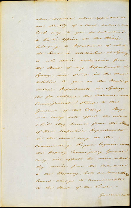 Governor La Trobe's Instructions, 11 September 1839 (NSW), p3