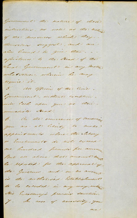Governor La Trobe's Instructions, 11 September 1839 (NSW), p4