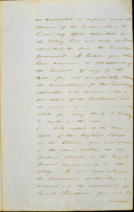 Governor La Trobe's Instructions, 11 September 1839 (NSW), p5