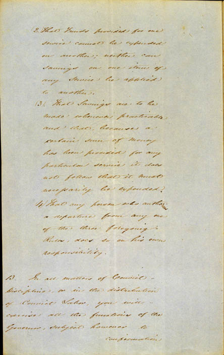 Governor La Trobe's Instructions, 11 September 1839 (NSW), p8
