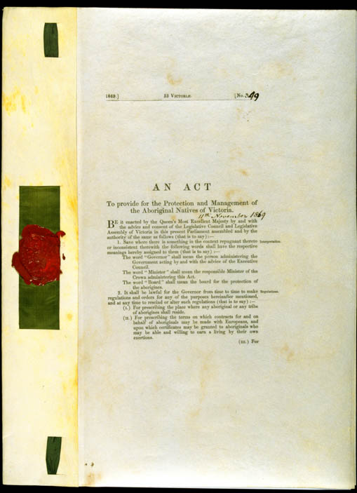 Aboriginal Protection Act 1869 (Vic), p1