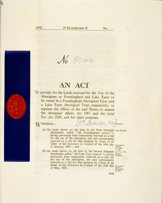 Aboriginal Lands Act 1970 (Vic), p1