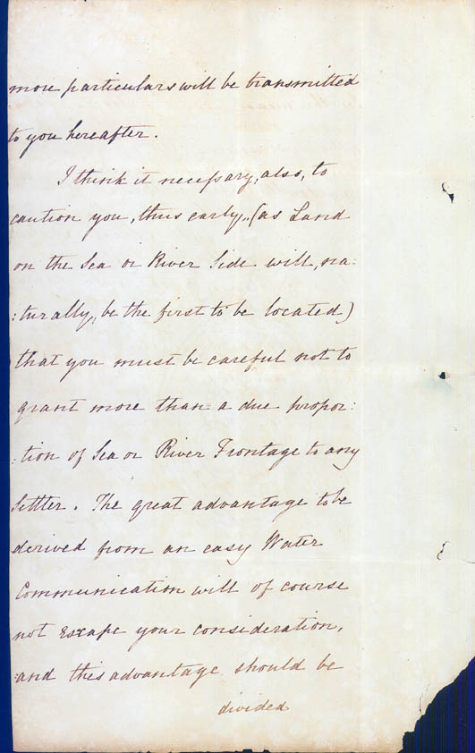 Lieutenant-Governor Stirling's Instructions 30 December 1828 (UK), p10