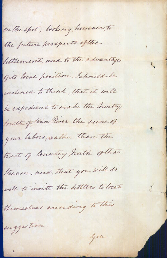 Lieutenant-Governor Stirling's Instructions 30 December 1828 (UK), p12