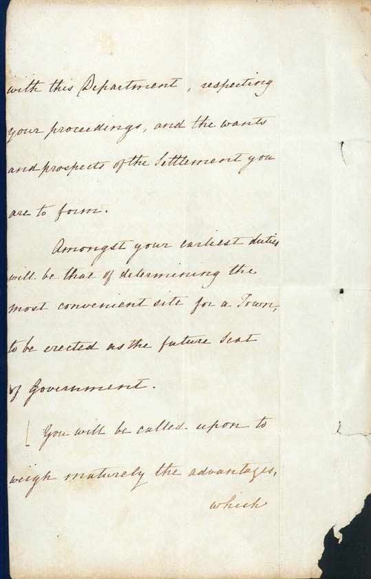 Lieutenant-Governor Stirling's Instructions 30 December 1828 (UK), p4