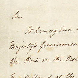 Detail from the first page of Lieutenant-Governor Stirling's Instructions.