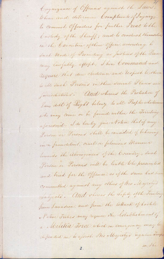 Lieutenant-Governor Stirling's Proclamation of the Colony 18 June 1829 (UK), p3