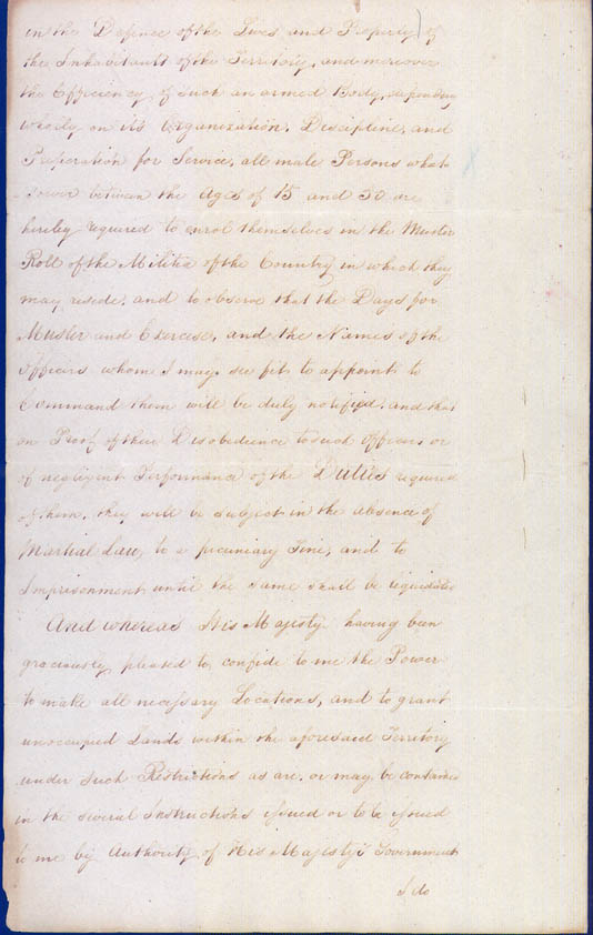 Lieutenant-Governor Stirling's Proclamation of the Colony 18 June 1829 (UK), p4