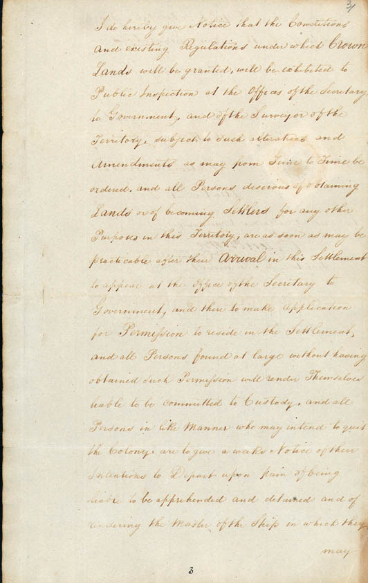 Lieutenant-Governor Stirling's Proclamation of the Colony 18 June 1829 (UK), p5
