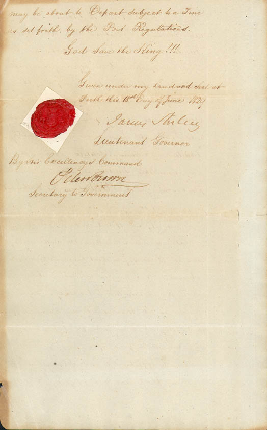 Lieutenant-Governor Stirling's Proclamation of the Colony 18 June 1829 (UK), p6