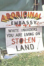 On Australia Day 1972 Aboriginal people set up a tent embassy.