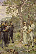 Painting by George Pitt Morrison entitled 'The Foundation of Perth'.