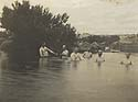 Senators bathing in the Snowy River at Dalgety. Photographer ET Luke