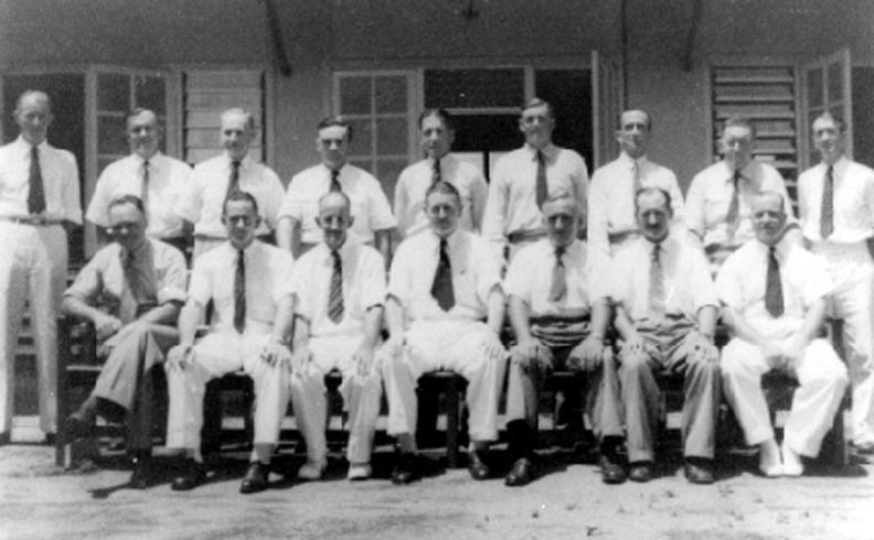 The seven official and seven elected Members of the Northern Territory's first Legislative Council